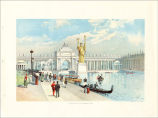 The Chicago Tribune Art Supplements.  World's Columbian Exposition. Looking East in the Grand...