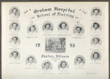 1953.4.1 Graham Hospital School of Nursing Graduation