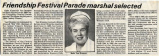 1989.2.Community.1 Friendship Festival Parade Marshal Selected