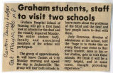 1980.2.Students.1 Graham Students, Staff to Visit Two Schools