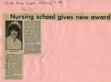 1983.2.Awards.1 Nursing School Gives New Award