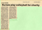 1985.2.Community.1 Nurses Play Volleyball for Charity