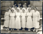 1935.1.5 Graham Hospital Training School for Nurses students with hospital superintendent and...