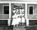 1954.1.7 Graham Hospital School of Nursing Students with Texts