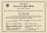 1961.16.1 Basic Professional Psychiatric Nursing Affiliation Program Certificate
