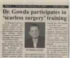 2009.2.Surgery.1 Dr Gowda participates in scarless surgery training