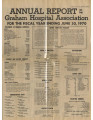 1970.2.Reports.1 Annual report for the Graham Hospital Association for the fiscal year ending June...