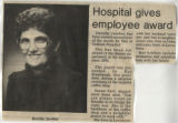 1988.2.GH Staff.1 Hospital gives employee award