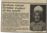1983.2.Awards.2 Graham names October student of the month