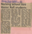1981.2.Honors.2 Nursing School lists honor roll students