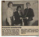 1986.2.Scholarships.1 Presents Scholarship