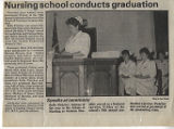 1989.2.Graduation.2 Nursing School Conducts Graduation