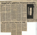 1982.2.Building.3 Hospitals addition financed locally