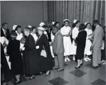 1956.4.4 Graham Hospital School of Nursing Graduation Reception Line
