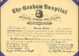 1941.4.2 Graham Hospital School of Nursing 1941 Diploma
