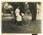 Mildred Devine on Bicycle
