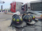 Stone Park Fire Department Firefighter Helmets