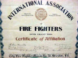 Streator Fire Department IAFF Certificate of Affiliation
