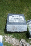 Mary Zimmer Grave Marker