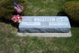 "Helen and Wilbert ""Buck"" Uptadel Grave Marker"