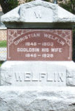 Christian and Godlobin Welfin Grave Marker