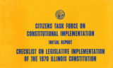 Checklist on Legislative Implementation of the 1970 Illinois Constitution : Initial Report