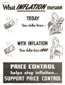 What inflation means, today your dollar buys--with inflation, your dollar buys less: price control...