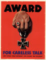 Award for careless talk: don't discuss troop movements, ship sailings, war equipment