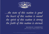 The state of this nation is good, the heart of this nation is sound, the spirit of this nation is...