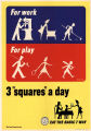 "For work or play 3 ""squares"" a day: eat the basic 7 way"