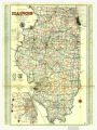 1930 Official Illinois Highway Map