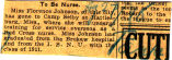 Johnson, Florence -- News Clipping