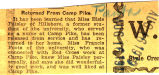Paisley, Elsie -- News Clipping
