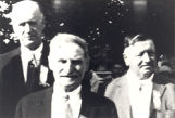 Photo of W.F. Droegemueller, Lewis Wolf and Wiliam Schaper.