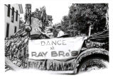 Car decorated for parade in Libertyville and Mundelein.  Gordon K. Ray and Ridgely Ray, 1921. ...