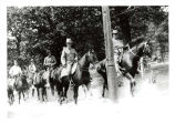U.S. Army Troops from Ft. Sheridan camping at Ray Bros, 1908.  91.17.96