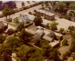 Lake Forest Library Exterior, Aerial view from southeast