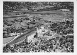 Aerial view of Pillsbury Mills and C&IM rail yard