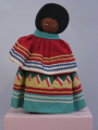Seminole (Florida) palmetto doll with bonnet (20th C) 	Seminole (Florida) palmetto doll with...