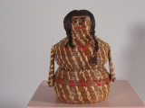 Coushatta (Louisiana) Girl shaped basket (1977)
