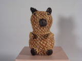 Coushatta: Fern Abbey (Alabama) Bear shaped basket (1970's)