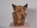 Coushatta (Alabama) Owl shaped basket (1970's)