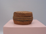 Makah (Washington State) round basket with cover (C. 1920)