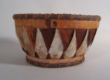 Athabaskan stitched basket (late 1960's)