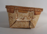 Athabaskan birch bark basket (late 1960's)