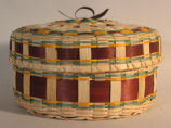 Potawatomi round red basket (c 1994)