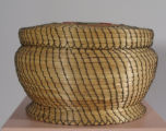 Coushatta basket with strawberry design (20th C)