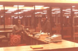 Library Circulation Desk, 1977