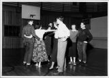 Elgin Community College Students participate in Square Dance activity.