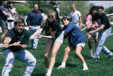 Elgin Community College students at a Mayfest activity, circa 1990s.
